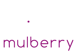 Mulberry Design Studio White Logo With Text